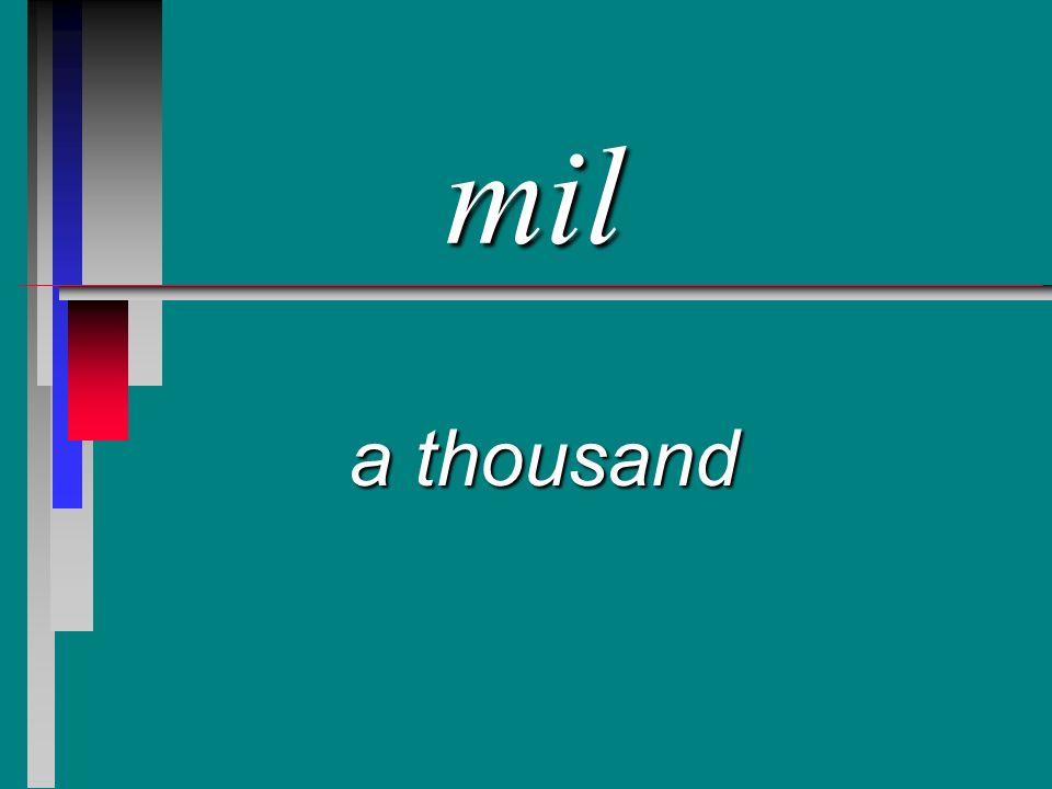 mil a thousand