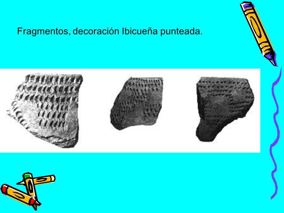 Decoración plástica Guaraní. a) corrugado, b) unguiculada, c) escobada y d) rodetada.