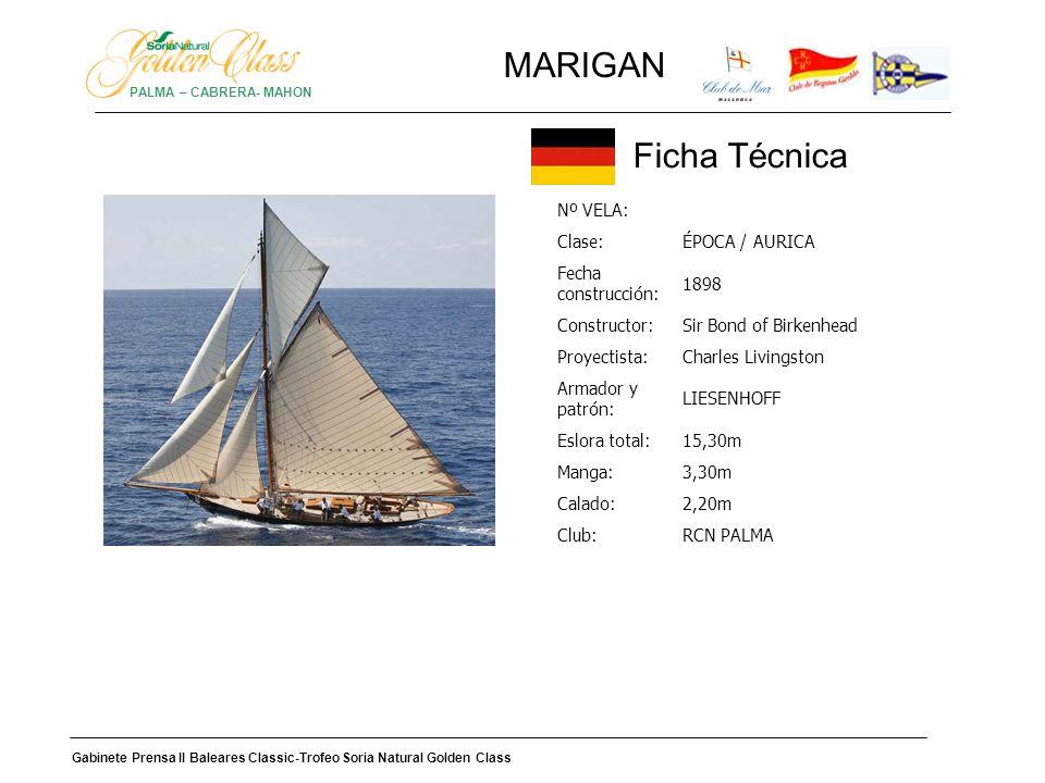 MARIGAN HISTORIA Nombre original: MOLITA Numero oficial del barco: 109400 y código: Q.C.L.N.