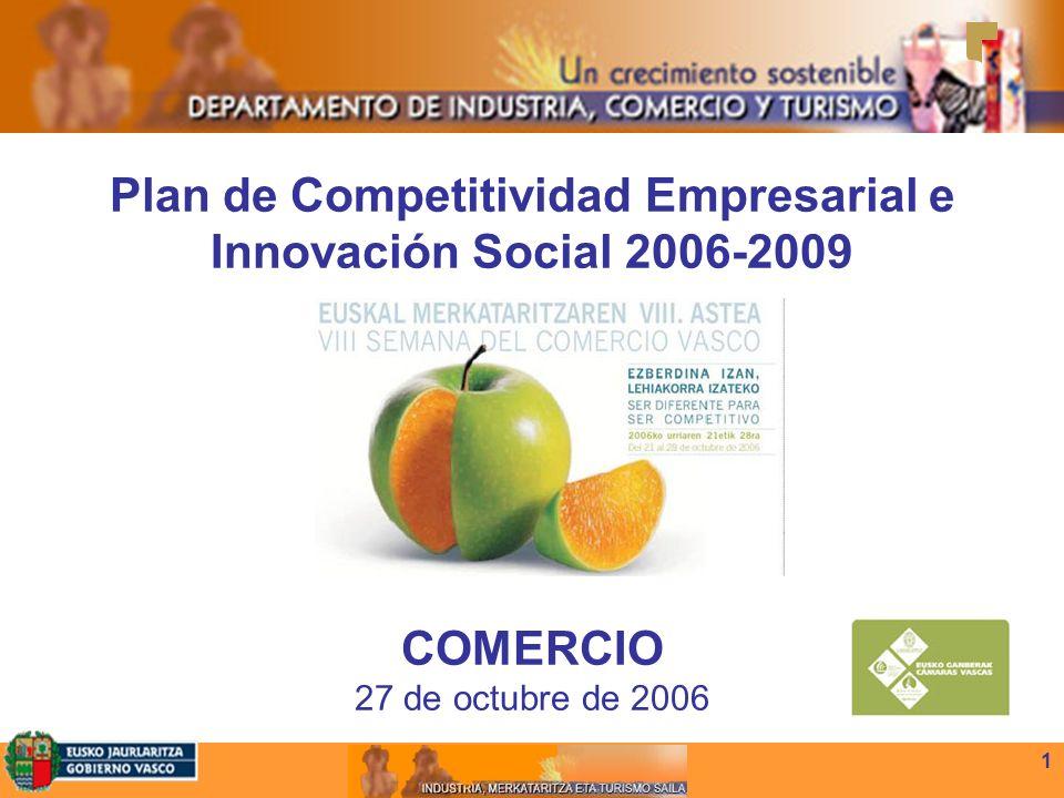 1 Plan de Competitividad Empresarial e Innovación Social 2006-2009 COMERCIO 27 de octubre de 2006