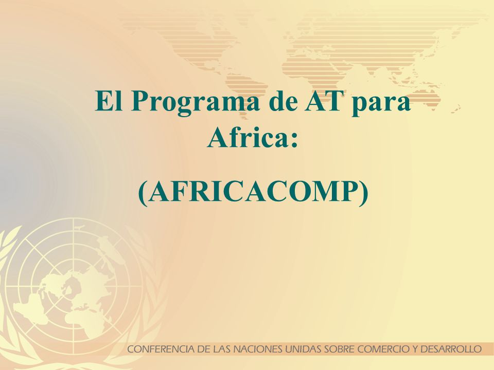 El Programa de AT para Africa: (AFRICACOMP)