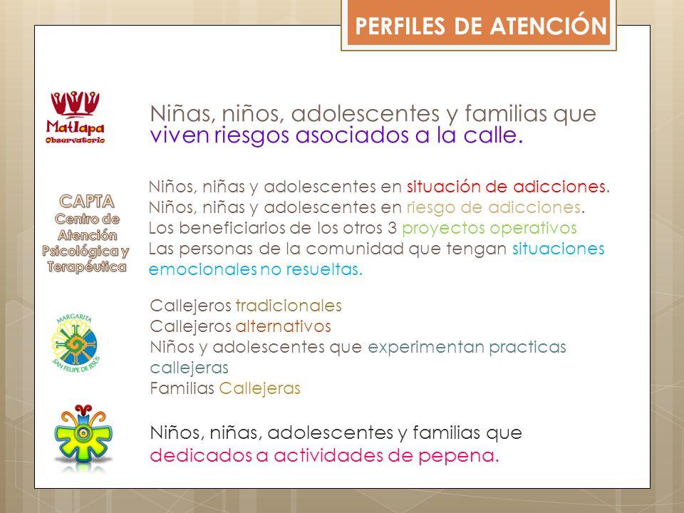 PERFILES DE ATENCIÓN Niñas, niños, adolescentes y familias que viven riesgos asociados a la calle.