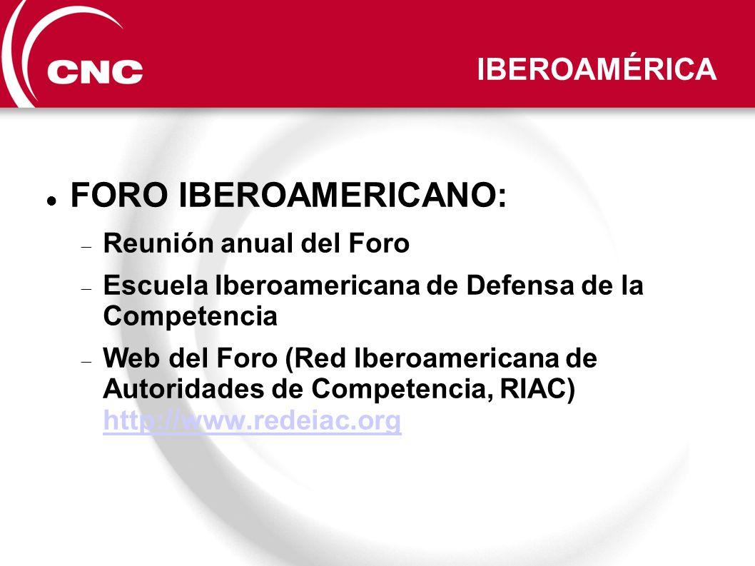 IBEROAMÉRICA FORO IBEROAMERICANO: Reunión anual del Foro Escuela Iberoamericana de Defensa de la Competencia Web del Foro (Red Iberoamericana de Autor