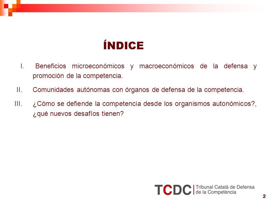 2 I. Beneficios microeconómicos y macroeconómicos de la defensa y promoción de la competencia.