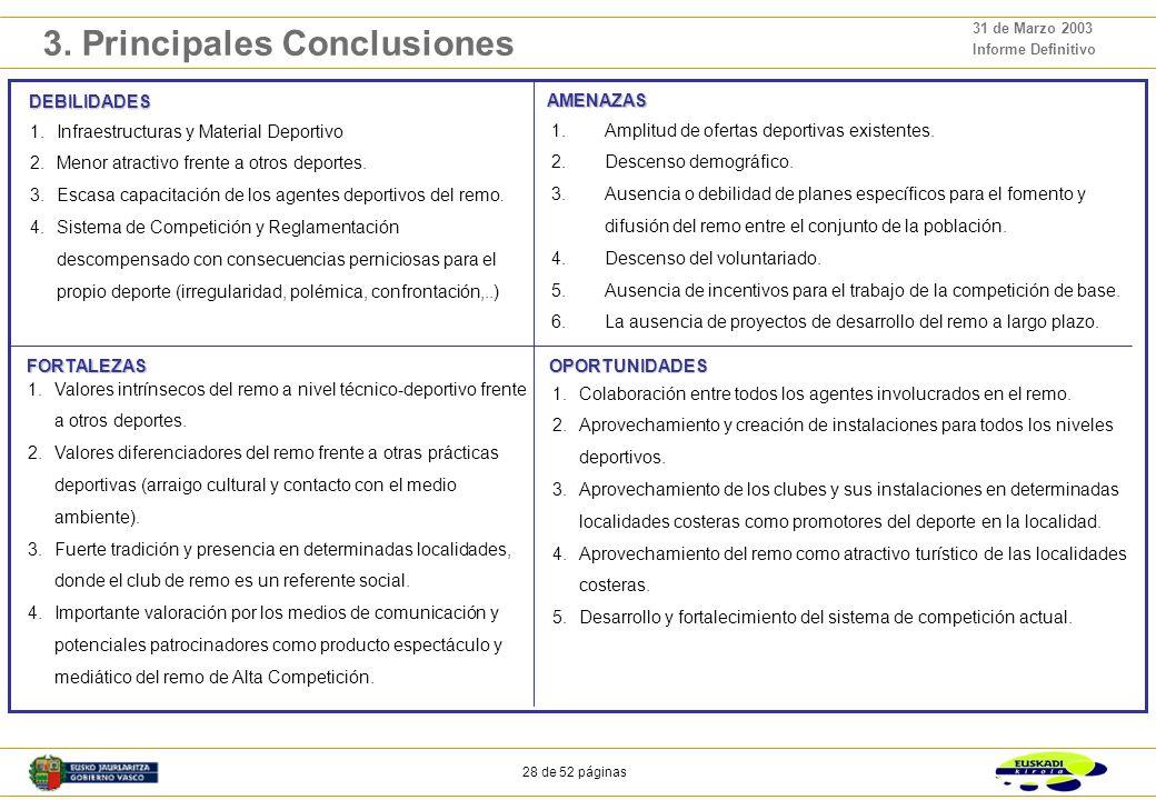 3. Principales conclusiones
