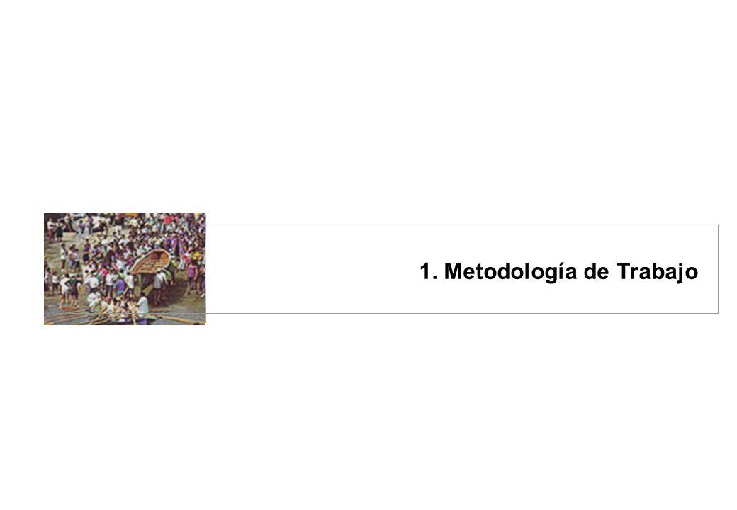2 de 52 páginas 31 de Marzo 2003 Informe Definitivo Índice 1.Metodología de Trabajo...................................................................