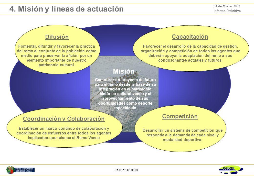 4. Misión y líneas de actuación