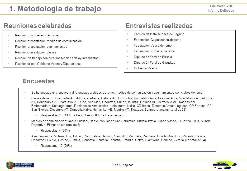 4 de 52 páginas 31 de Marzo 2003 Informe Definitivo 1. Metodología de trabajo El objetivo general del proyecto es la elaboración de un documento, el P