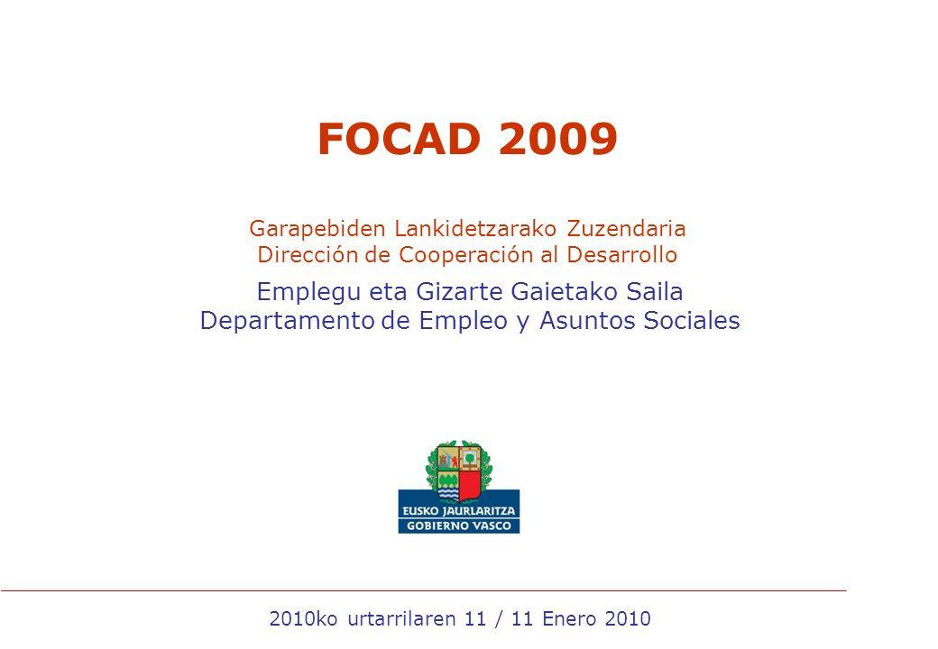 12 Proyectos educación al desarrollo Proyectos 2009Fondos () Educación para el desarrollo3.079.951,88 19 proyectos aprobados 10,43% del total de los fondos (El decreto FOCAD obliga a un 10%)