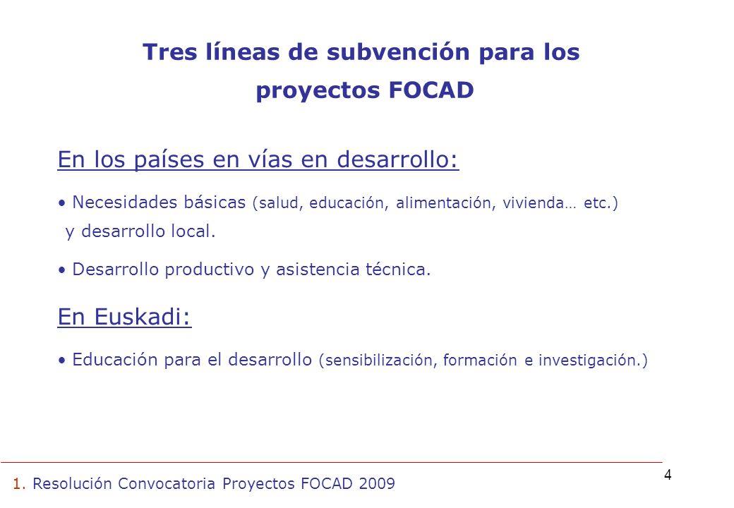 5 Total de solicitudes presentadas a la convocatoria 2009: 233 proyectos Total proyectos aprobados: 99 proyectos 76 necesidades básicas y desarrollo local 4 desarrollo productivo y asistencia técnica 19 educación para el desarrollo 1.