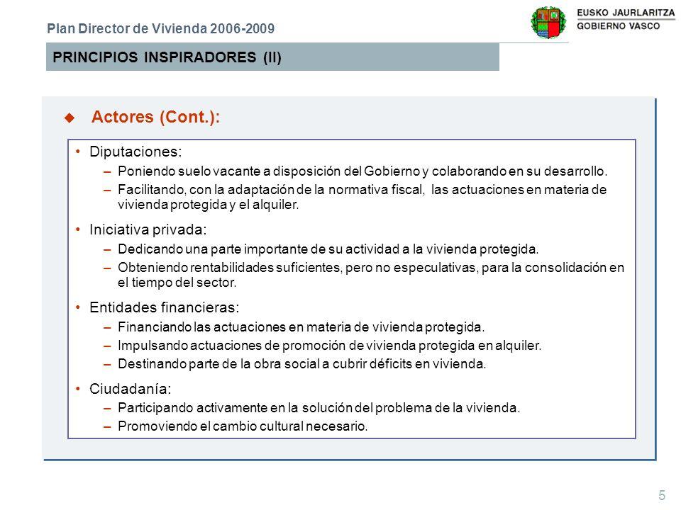 6 DIAGNÓSTICO (I) Plan Director de Vivienda 2006-2009 76.193 necesidades de vivienda registradas en Etxebide.