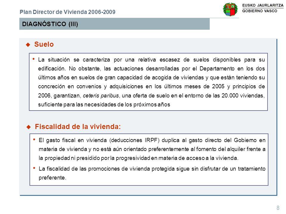9 DIAGNÓSTICO (IV) Plan Director de Vivienda 2006-2009 Balance general claramente satisfactorio.
