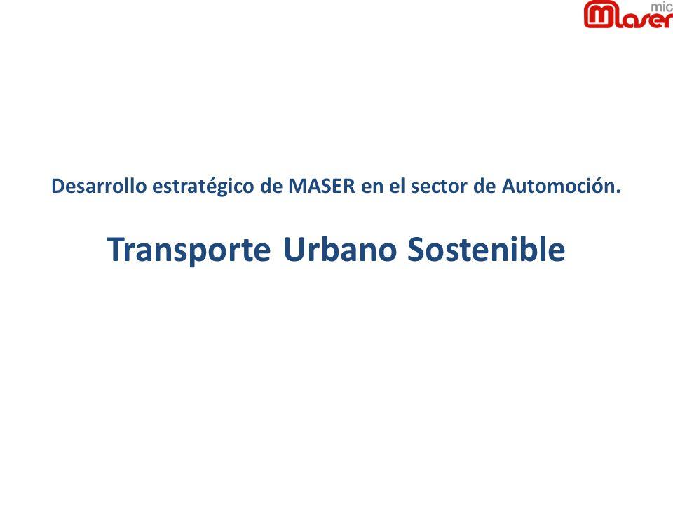 Desarrollo estratégico de MASER en el sector de Automoción. Transporte Urbano Sostenible