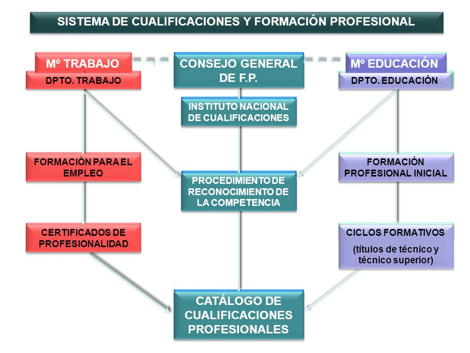 Las cualificaciones se organizan en cinco niveles de cualificación, los tres primeros se corresponden con el ámbito en el que se inscribe la formación profesional Nivel 5 Nivel 4 Nivel 3 Nivel 2 Nivel 1 Familia prof.