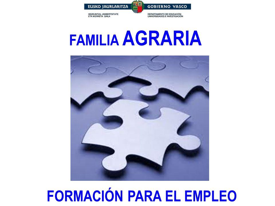 FAMILIA AGRARIA FORMACIÓN PARA EL EMPLEO
