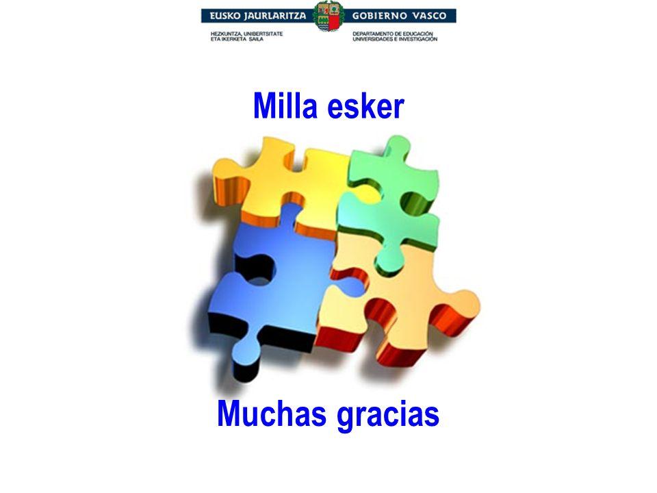Muchas gracias Milla esker