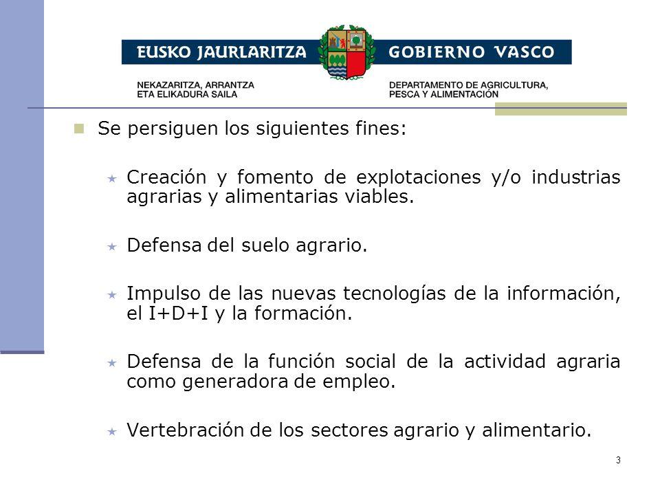 3 Se persiguen los siguientes fines: Creación y fomento de explotaciones y/o industrias agrarias y alimentarias viables.