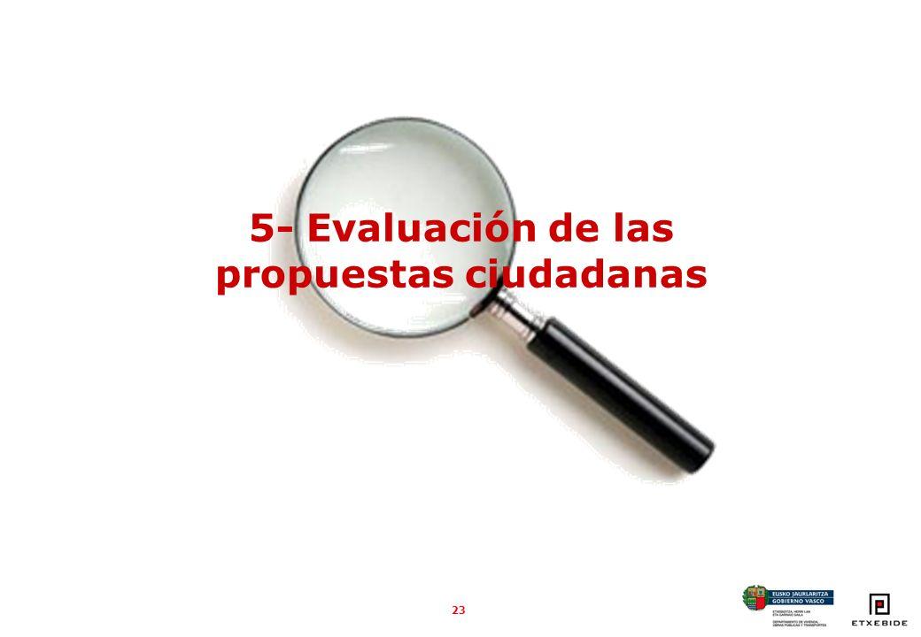 23 5- Evaluación de las propuestas ciudadanas