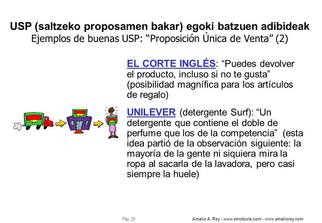 Amalio A. Rey - www.emotools.com - www.amaliorey.com Pag. 29 EL CORTE INGLÉS : Puedes devolver el producto, incluso si no te gusta (posibilidad magníf