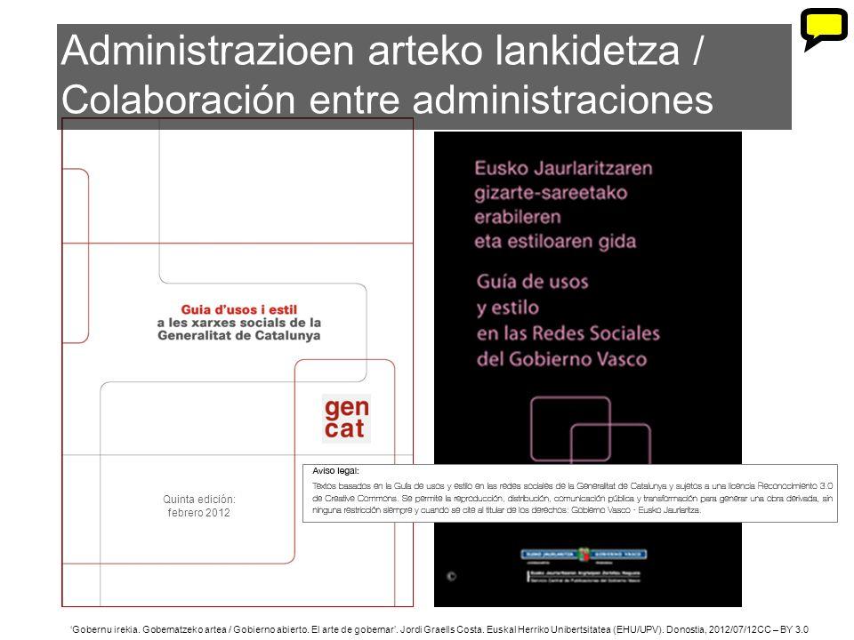 23 Gobernu irekia. Gobernatzeko artea / Gobierno abierto. El arte de gobernar. Jordi Graells Costa. Euskal Herriko Unibertsitatea (EHU/UPV). Donostia,