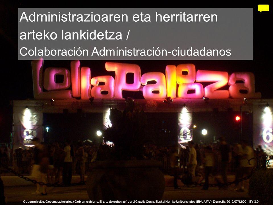 24 Gobernu irekia. Gobernatzeko artea / Gobierno abierto. El arte de gobernar. Jordi Graells Costa. Euskal Herriko Unibertsitatea (EHU/UPV). Donostia,