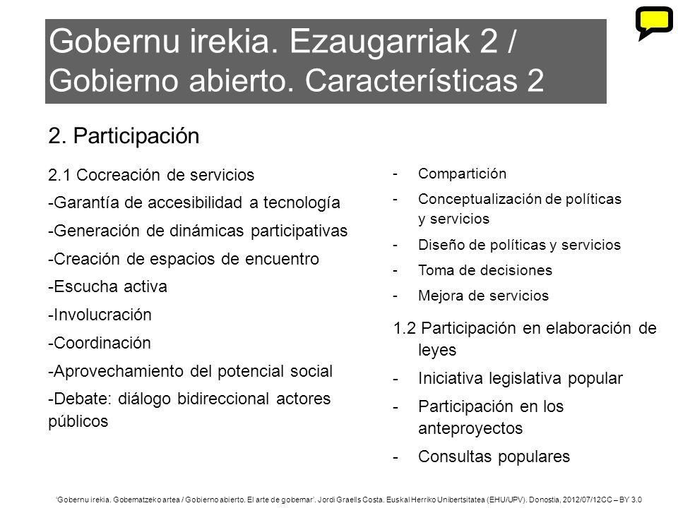 40 Gobernu irekia. Gobernatzeko artea / Gobierno abierto. El arte de gobernar. Jordi Graells Costa. Euskal Herriko Unibertsitatea (EHU/UPV). Donostia,