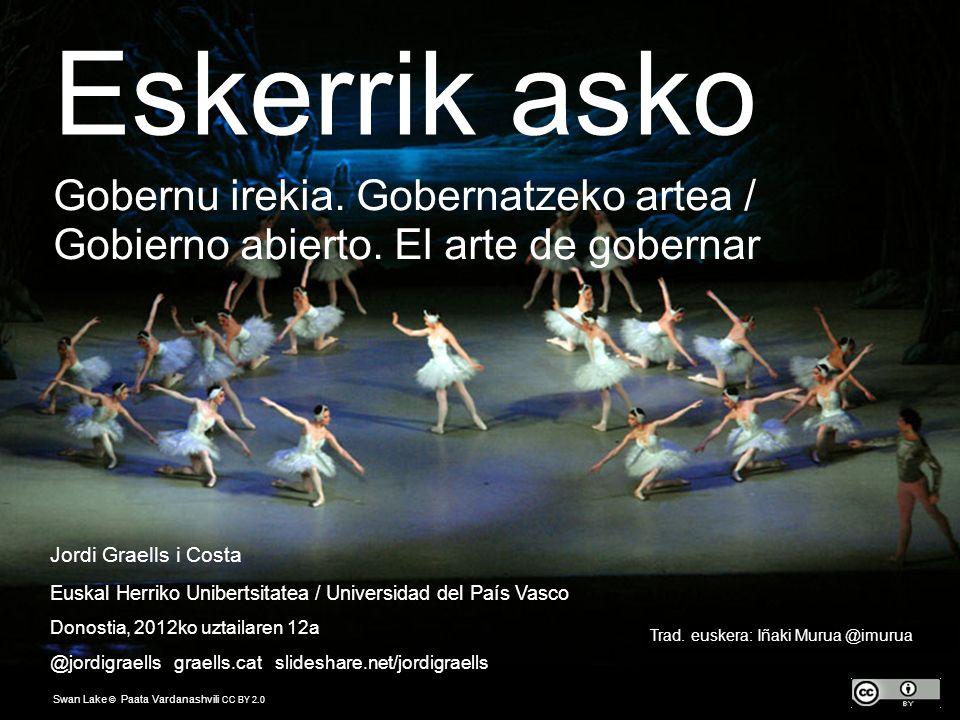 XXX Jordi Graells i Costa Euskal Herriko Unibertsitatea / Universidad del País Vasco Donostia, 2012ko uztailaren 12a @jordigraells graells.cat slidesh
