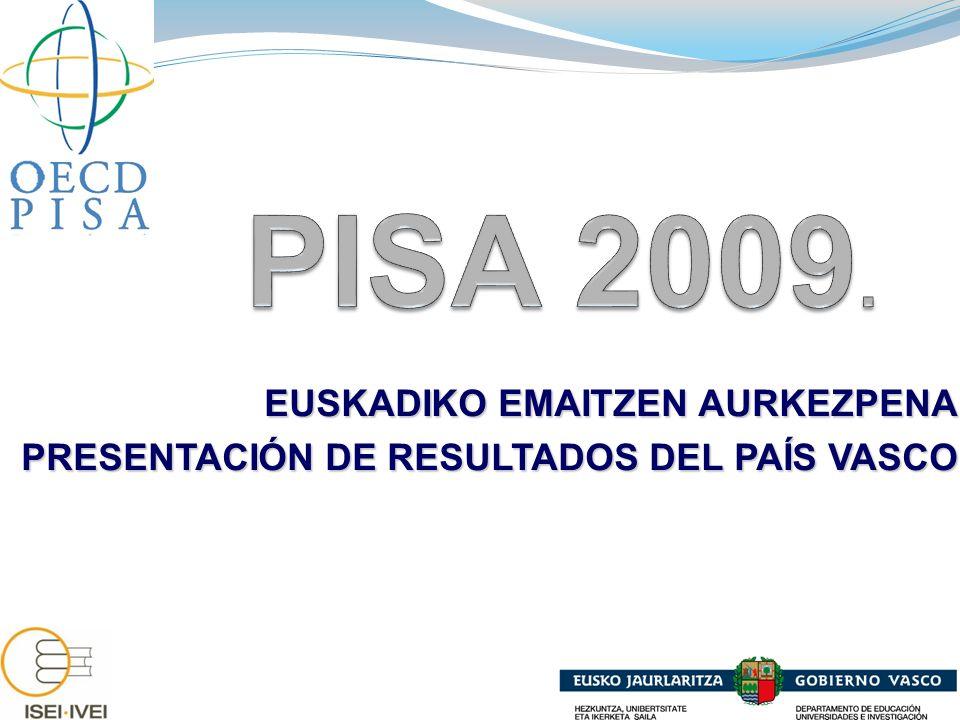 EUSKADIKO EMAITZEN AURKEZPENA PRESENTACIÓN DE RESULTADOS DEL PAÍS VASCO