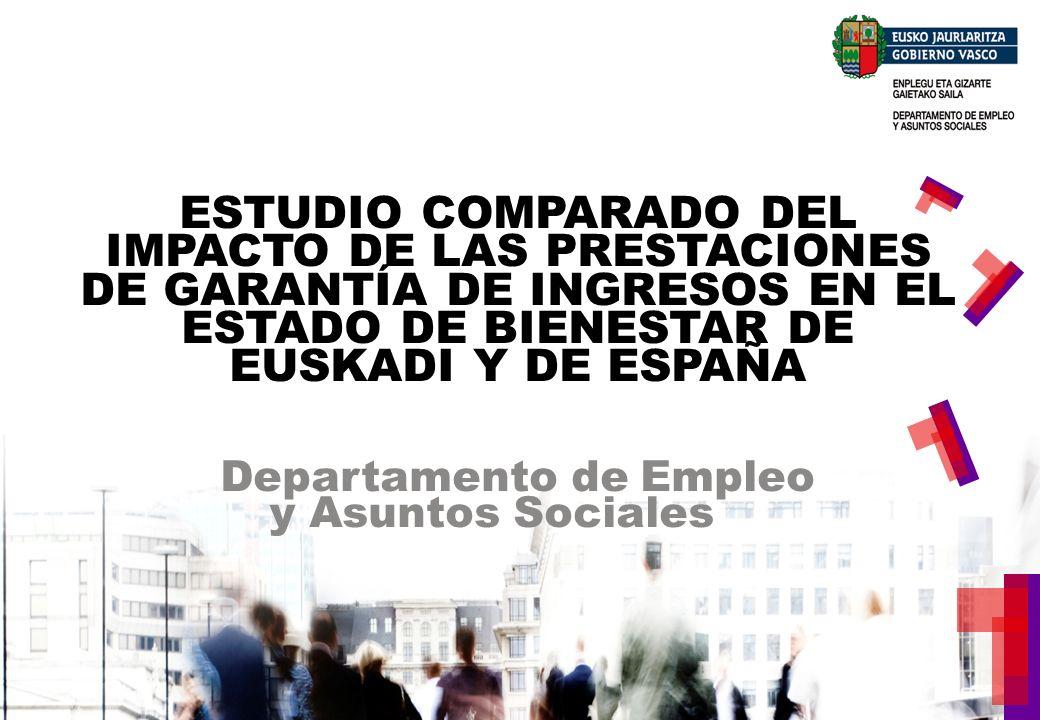 OBJETIVOS DEL INFORME IMPACTO DE LAS POLÍTICAS DE GARANTÍA DE INGRESOS EN EUSKADI ANALIZAR EL IMPACTO DE LAS PRESTACIONES DE GARANTÍA DE INGRESOS EN LA CONSOLIDACIÓN DEL MODELO DE ESTADO DE BIENESTAR EN EUSKADI Y EN ESPAÑA