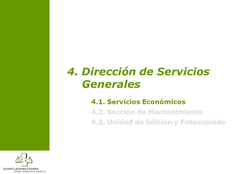 4.1. Servicios Económicos 4.2. Sección de Mantenimiento 4.3.