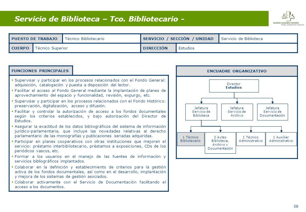 58 Servicio de Biblioteca – Tco.