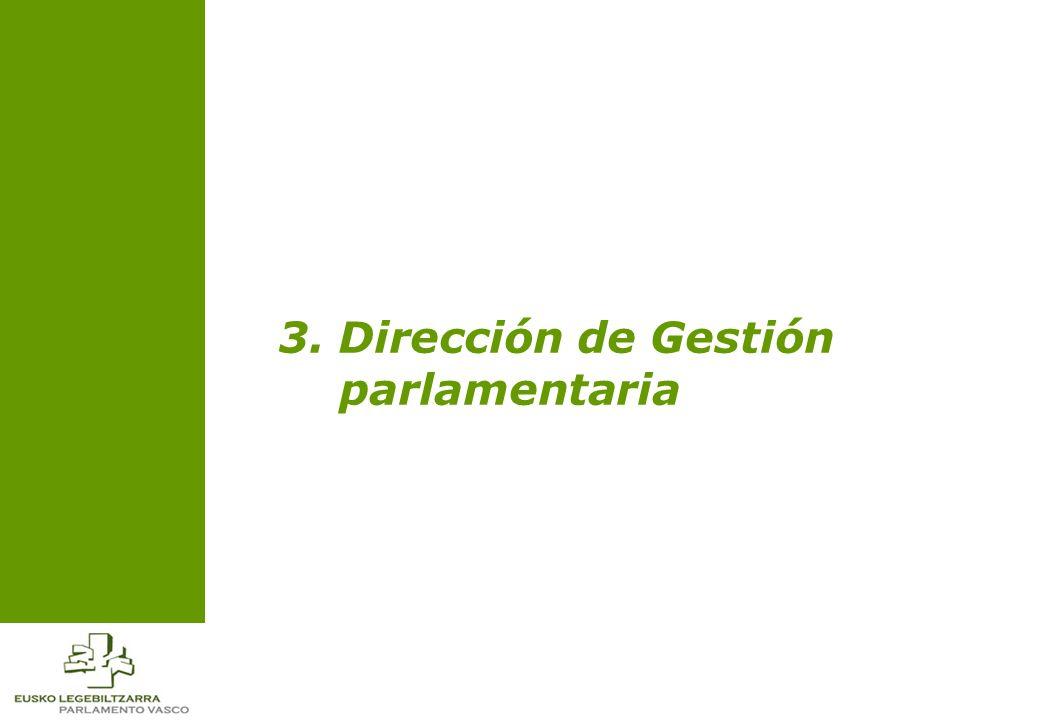 3. Dirección de Gestión parlamentaria