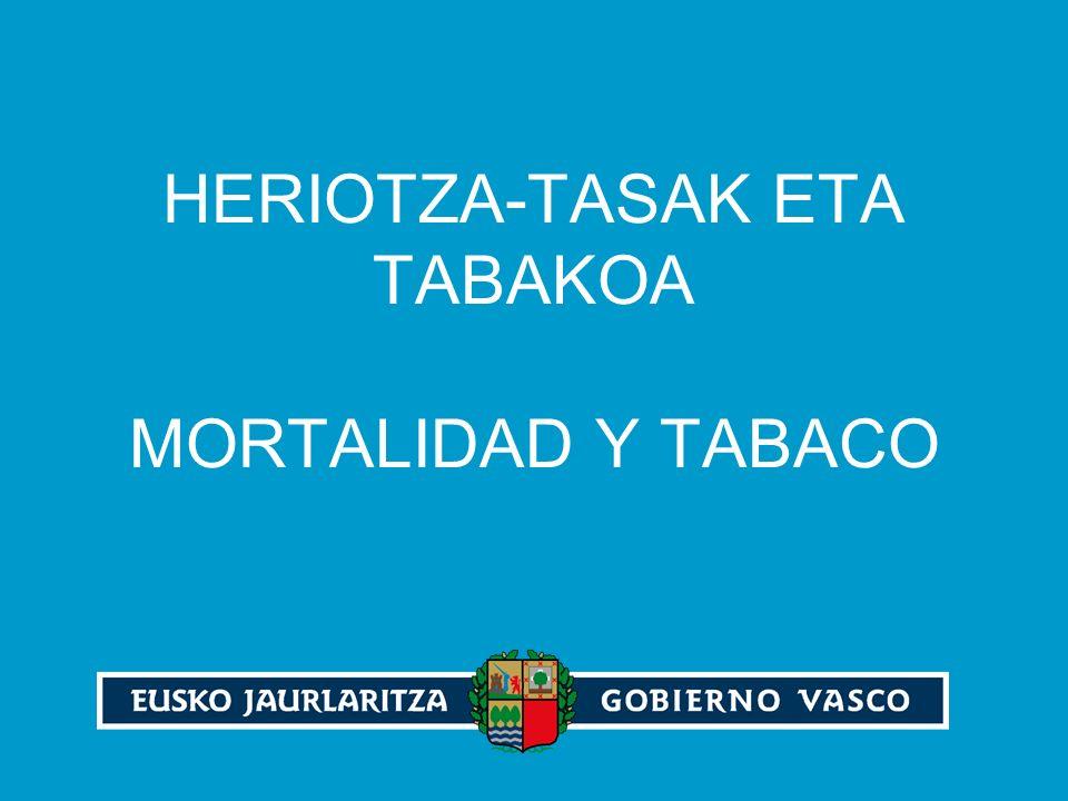 HERIOTZA-TASAK ETA TABAKOA MORTALIDAD Y TABACO