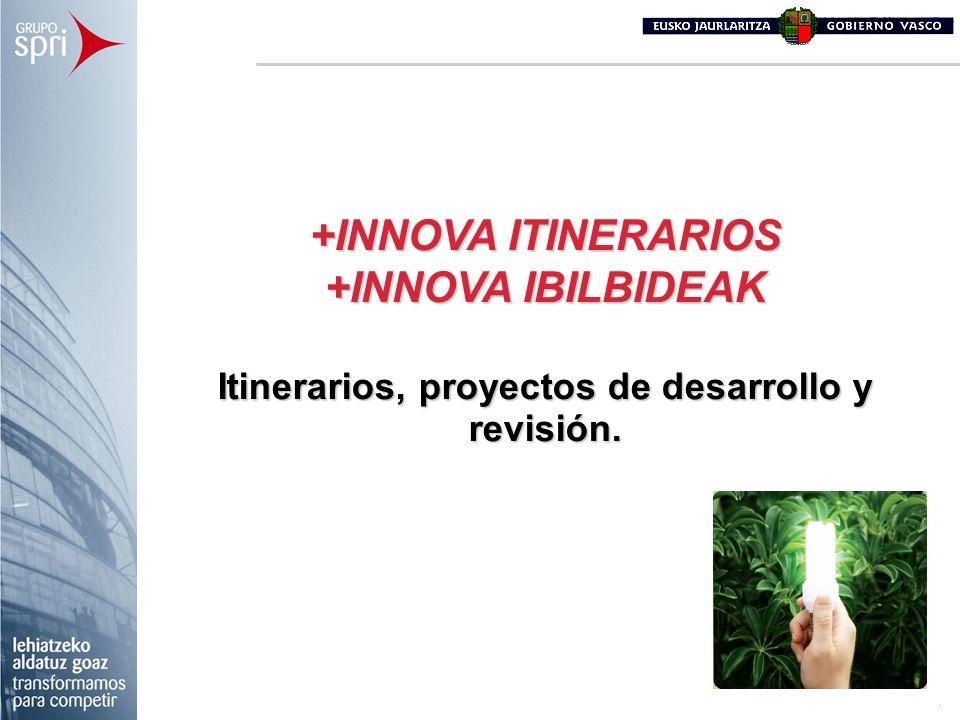 +INNOVA ITINERARIOS +INNOVA IBILBIDEAK Itinerarios, proyectos de desarrollo y revisión.