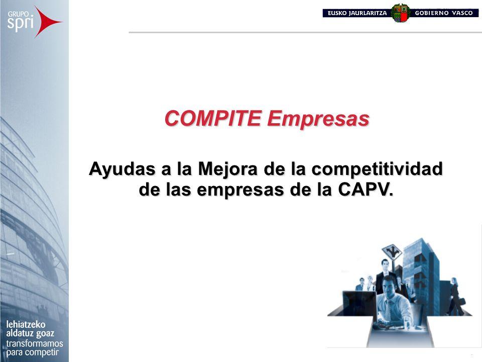 COMPITE Empresas Ayudas a la Mejora de la competitividad de las empresas de la CAPV.