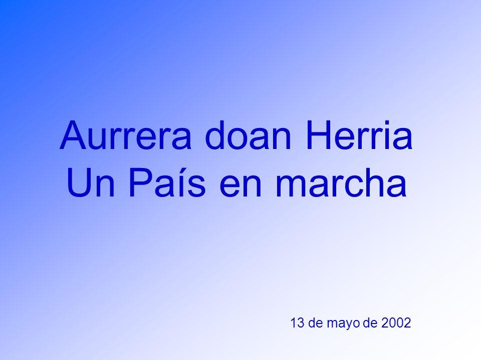 Aurrera doan Herria Un País en marcha 13 de mayo de 2002