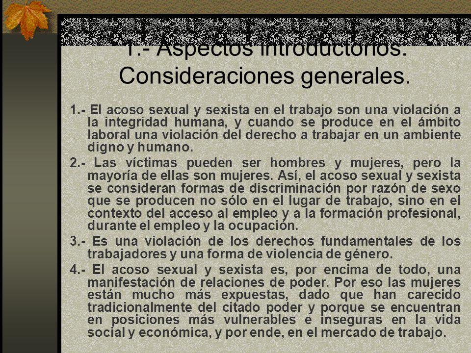 CONCEPTOS BÁSICOS-ACOSO SEXUAL Acoso sexual: Art.