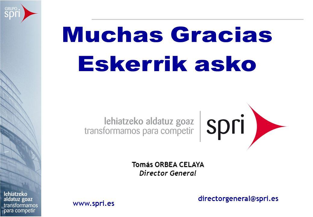 Tomás ORBEA CELAYA Director General www.spri.es directorgeneral@spri.es