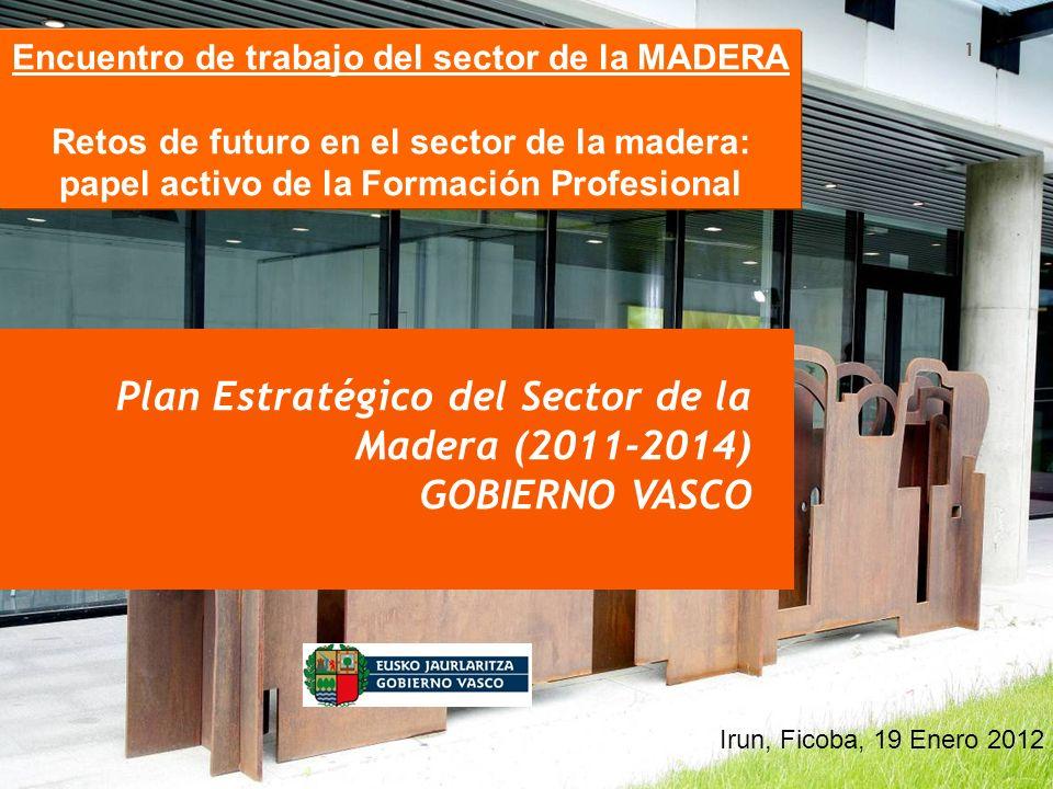 Octubre 2010 1 Plan Estratégico del Sector de la Madera (2011-2014) GOBIERNO VASCO Encuentro de trabajo del sector de la MADERA Retos de futuro en el