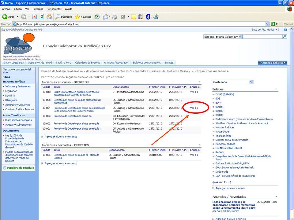 19 Dirección de Innovación y Administración Electrónica Legesarea, espacio colaborativo jurídico en red