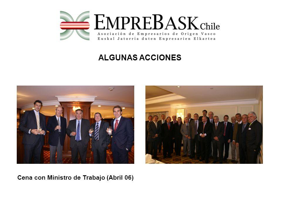 Cena con Ministro de Trabajo (Abril 06) ALGUNAS ACCIONES