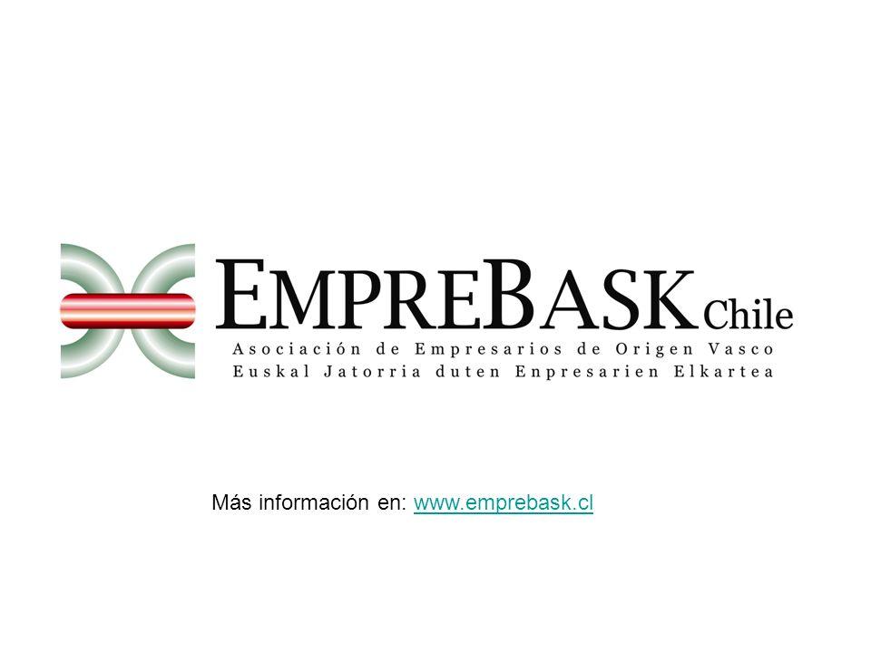 Más información en: www.emprebask.clwww.emprebask.cl