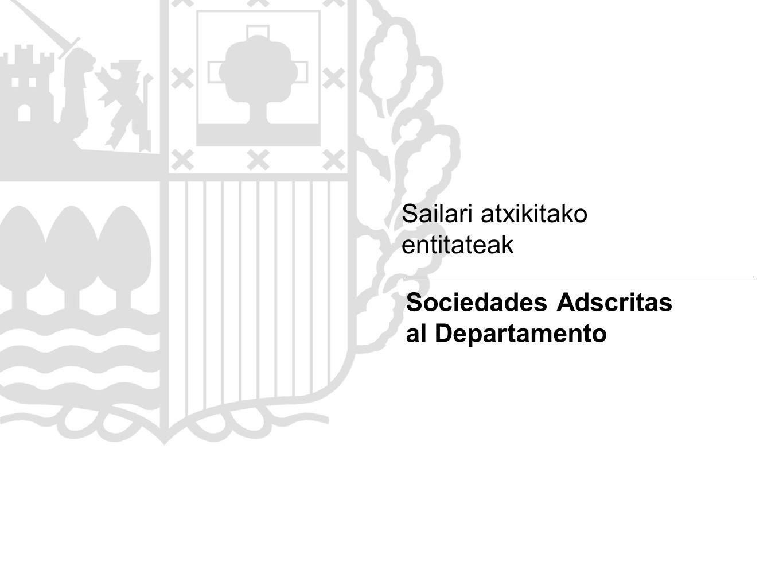Sailari atxikitako entitateak Sociedades Adscritas al Departamento