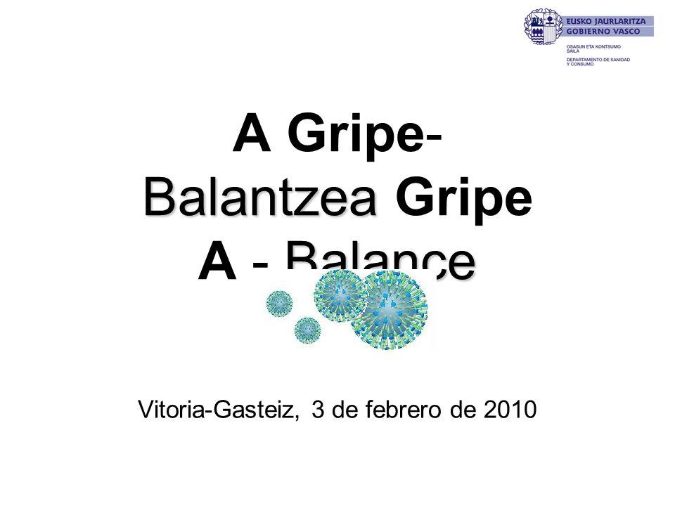 Balantzea Balance A Gripe- Balantzea Gripe A - Balance Vitoria-Gasteiz, 3 de febrero de 2010