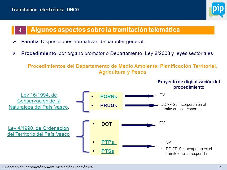 Dirección de Innovación y Administración Electrónica 11 Familia : Disposiciones normativas de carácter general.