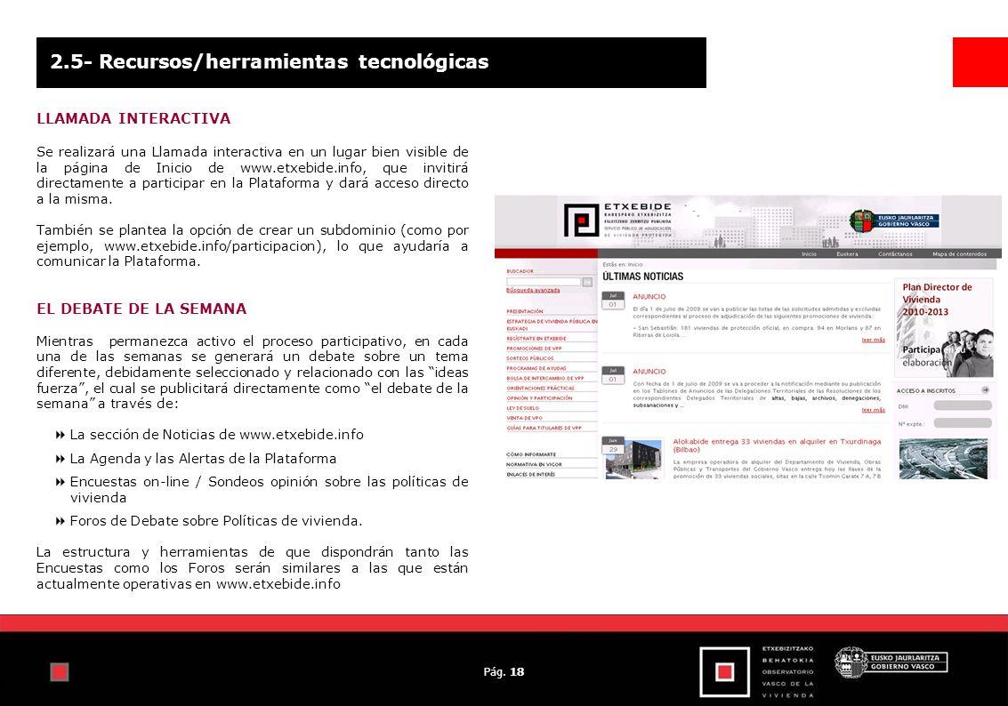 Pág. 18 2.5- Recursos/herramientas tecnológicas LLAMADA INTERACTIVA Se realizará una Llamada interactiva en un lugar bien visible de la página de Inic