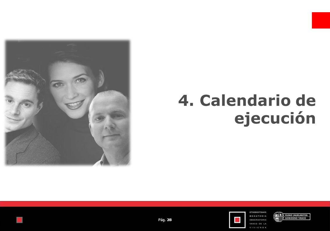 Pág. 28 4. Calendario de ejecución