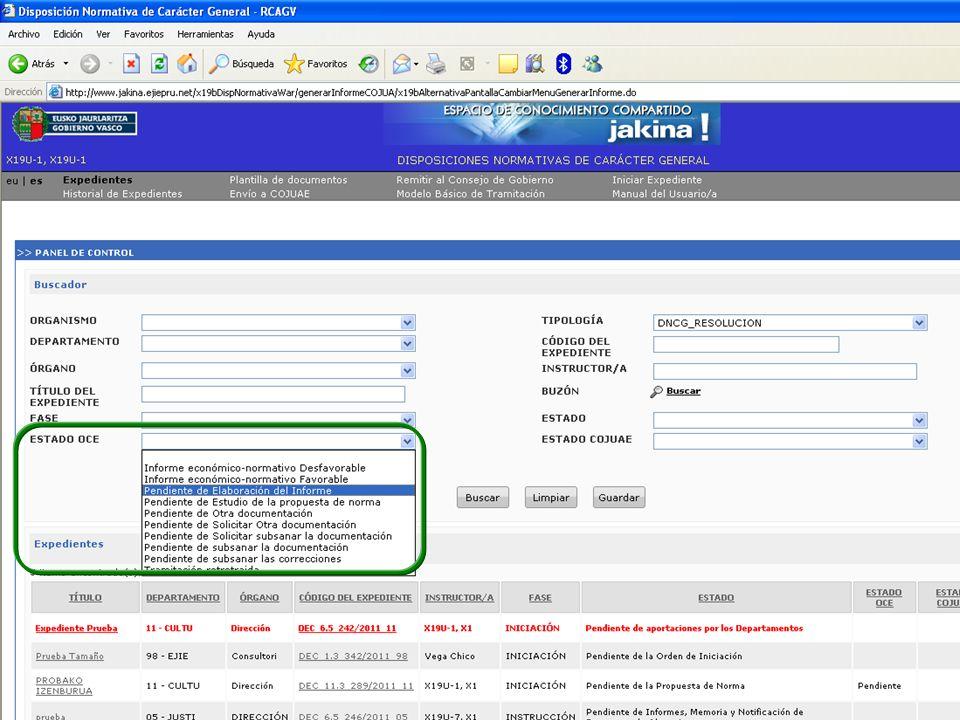 Tramitación electrónica de las DNCG Departamento de Justicia y Administración PúblicaVitoria-Gasteiz, 14 de febrero de 2011 15
