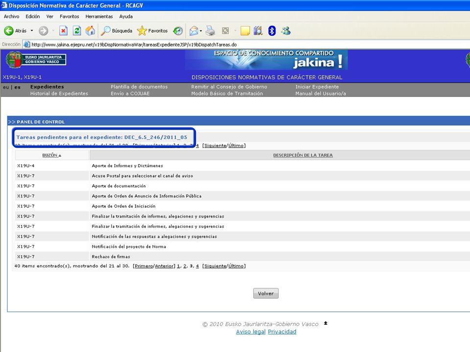 Tramitación electrónica de las DNCG Departamento de Justicia y Administración PúblicaVitoria-Gasteiz, 14 de febrero de 2011 17