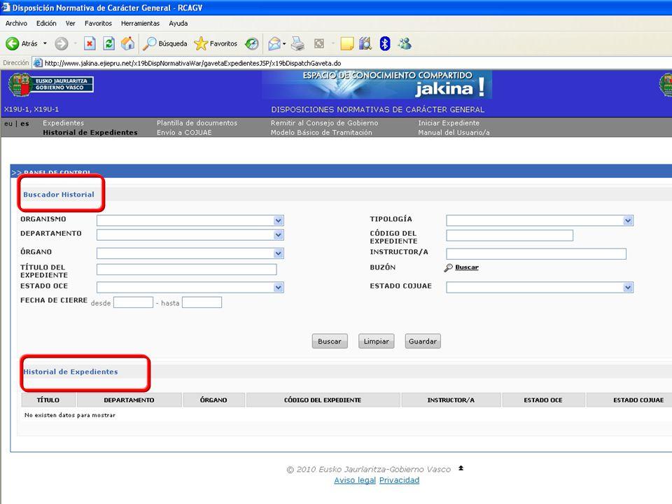Tramitación electrónica de las DNCG Departamento de Justicia y Administración PúblicaVitoria-Gasteiz, 14 de febrero de 2011 6